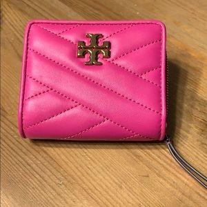 NWT Kira Chevron Bi - Fold Wallet Crazy Pink